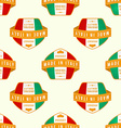 made in Italy banner seamless pattern vector image