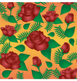 Seamless floral pattern with of vinous roses vector image