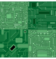 Set of textures computer board Green vector image