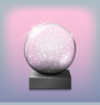 snow glass transparent ball on a vector image