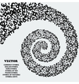 Spiral of black icons of various currencies vector image