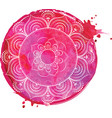 watercolor yoga india arabic vector image