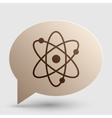 Atom sign  Brown gradient icon on vector image