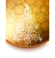 Elegant christmas tree background Vector Image