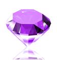 Violet diamond vector image vector image