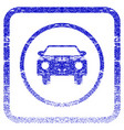 car framed textured icon vector image