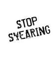 stop swearing rubber stamp vector image