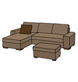 big beige couch vector image