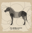 abstract horse background vector image