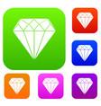 diamond set collection vector image