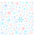 Snowflake merry christmas card vector image vector image