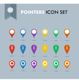 Pointers icons set EPS10 file vector image vector image