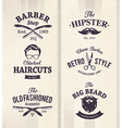 Barber Shop Emblems 1 vector image