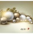 Christmas balls golden Xmas baubles Garland vector image vector image