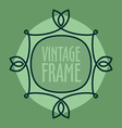 Simple vintage outlined frame Floral retro design vector image