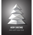 Christmas tree made with geometrical abstract vector image vector image