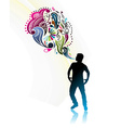 magic power man vector image