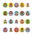 Avatar Icons 4 vector image
