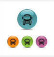 bus school icon on a colored buttons vector image