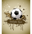 grunge football soccer ball vector image