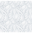 Hand drawn outline fashion seamless pattern vector image