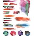 Set of watercolor strokes vector image