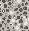 Sport ball silhouettes seamless pattern vector image