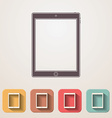 Tablet flat icons set fadding shadow effect vector image