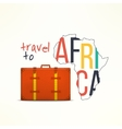Travel to aftica concept African traveler vector image