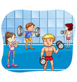 Weight lifting vector image