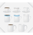 set of mugs vector image vector image