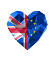 Brexit  Crystal jewelry European and British heart vector image