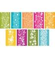 Set Of Nine Spring Flowers Vertical Seamless vector image vector image