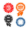 quality sign icon template set warranty and vector image