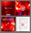 Abstract template booklet design vector image