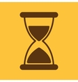 The hourglass icon Chronometer and timer clock vector image