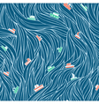 Dark waves pattern vector image vector image