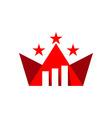 Business star finance logo vector image