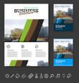 company flyer vector image