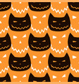 halloween seamless pattern with cats halloween vector image