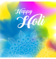 happy holi greeting background concept vector image