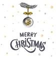 Merry Christmas Christmas calligraphy Handwritten vector image