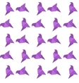 Origami bird seamless pattern vector image