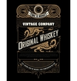 Whiskey label with old frames and ornaments vector image