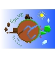 a pollution save our planet vector image