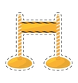 barrier warning fence caution cut line vector image