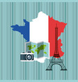 france map geography icon vector image