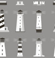 set of lighthouses pattern vector image