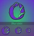 Halloween decorative alphabet - O letter vector image