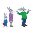 rabbit family vector image vector image